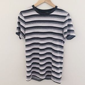 Striped Men's Pink and Gray Tee